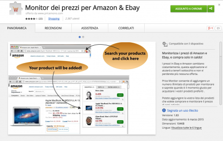 Amazon and Ebay Monitor